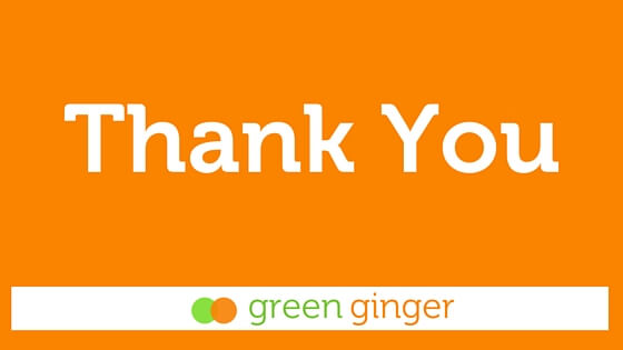 Graphic for Thank You from Green Ginger blog