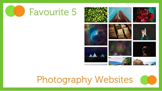 Graphic for Favourite Five Photography Websites blog