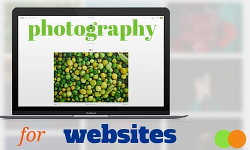Graphic for Photography for Websites blog