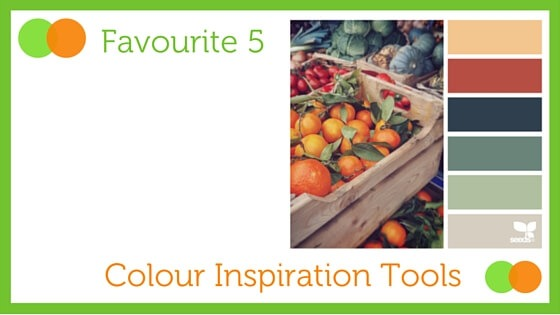 Graphic for Favourite Five Colour Inspiration Tools blog