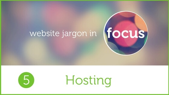 Graphic for blog on Hosting web jargon
