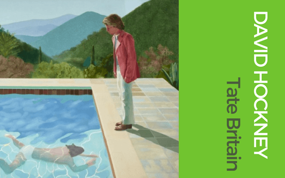 David Hockney graphic for London exhibitions blog