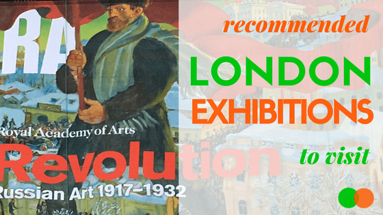 Graphic for London Exhibitions blog
