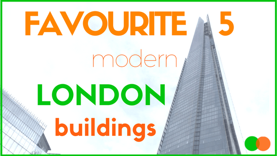 Graphic for blog on Favourite 5 London Modern Buildings