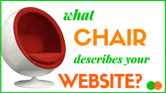 Graphic for Blog on What Chair describes your Website