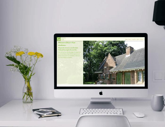 Glover's Trust website on desktop