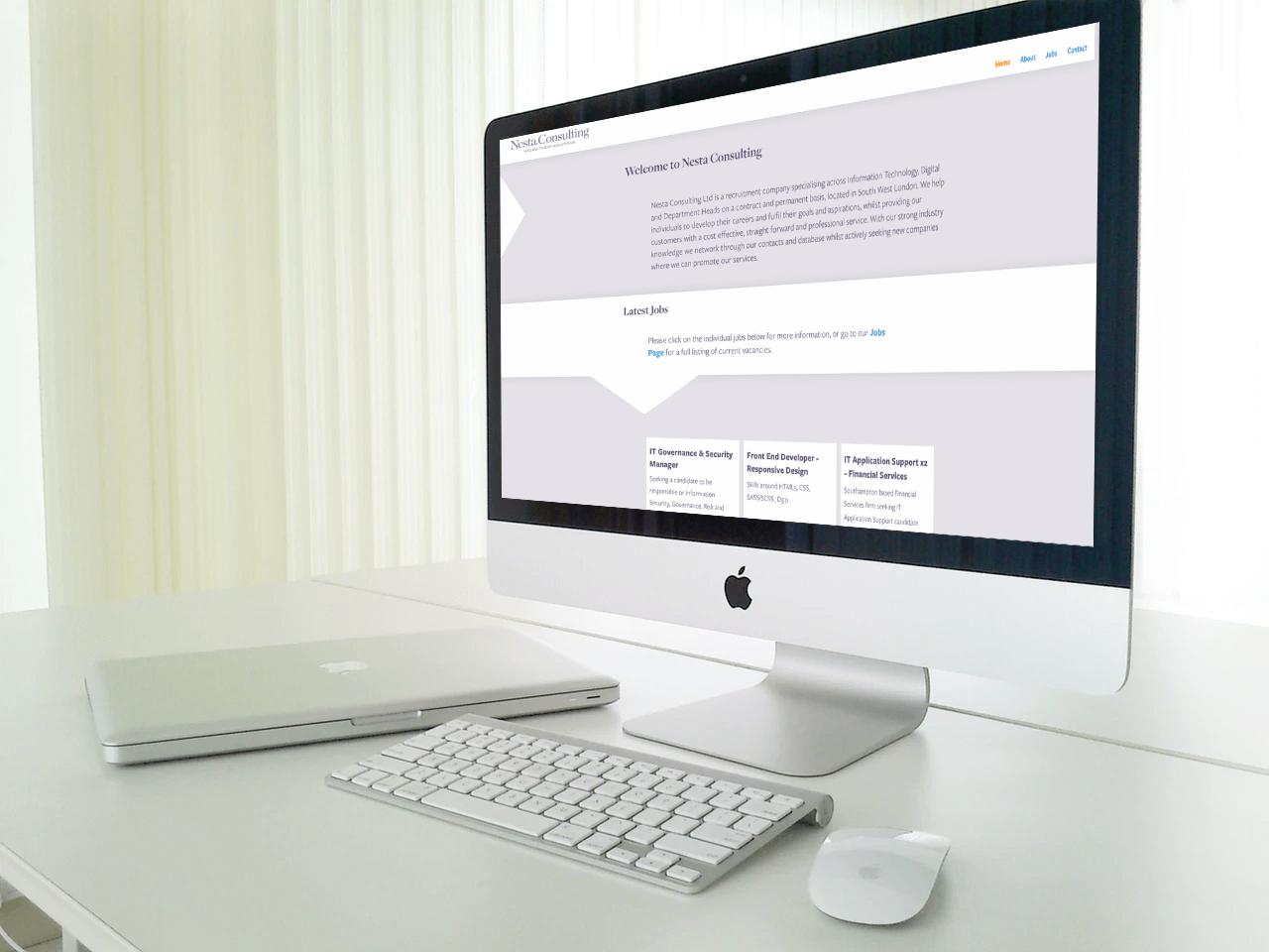 Nesta Consulting website on desktop