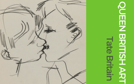 Graphic for Queer British Art at Tate Britain for blog on London summer exhibitions