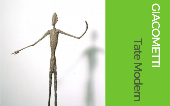 Graphic for Giacometti Exhibition at Tate Modern for blog on London summer exhibitions