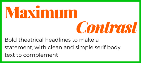 Contrasting font size for blog on choosing typefaces