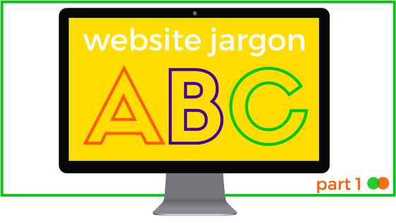 Graphic for Website Jargon part 1 blog