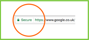 Example of a HTTPS secure site for Website Jargon blog
