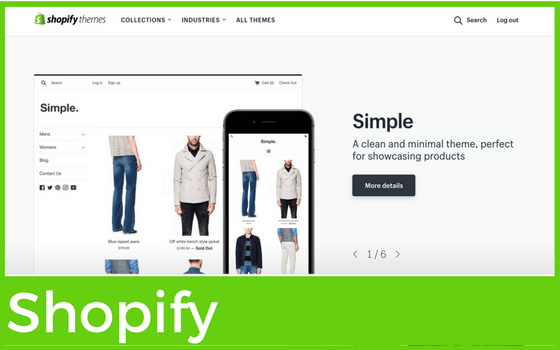 Graphic for Shopify for blog on Website Builders