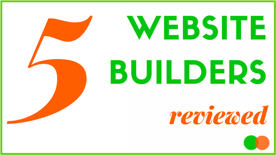 Graphic for blog reviewing Website Builders