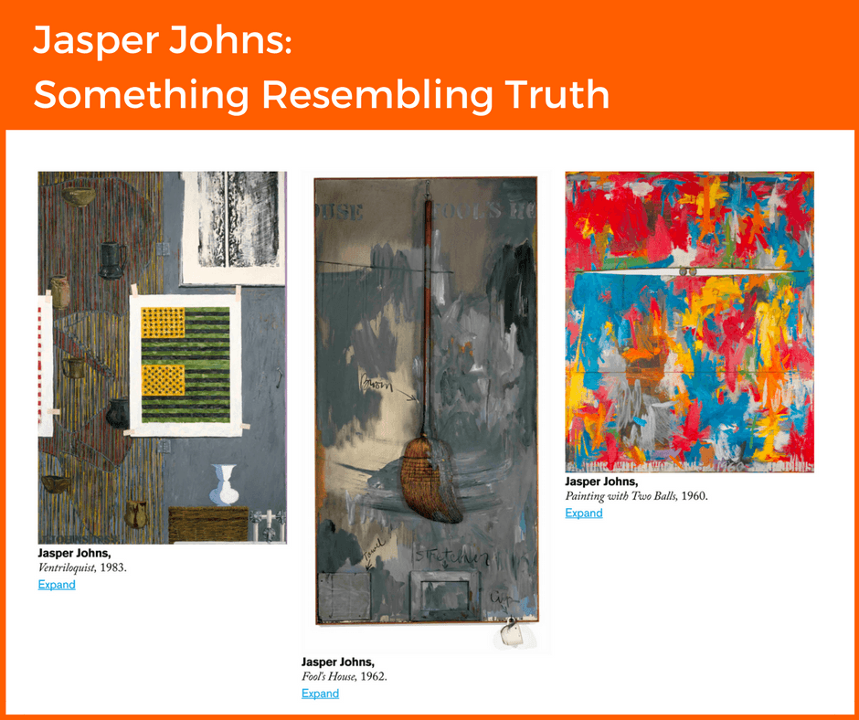 Jasper Johns- Something Resembling Truth - graphic for blog on London's Autumn Exhibitions