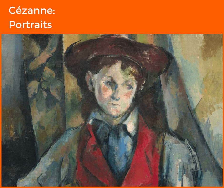 Cezanne Portraits - graphic for blog on London's Autumn Exhibitions