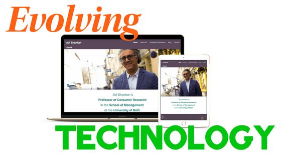 Evolving technology graphic for Website Updating blog