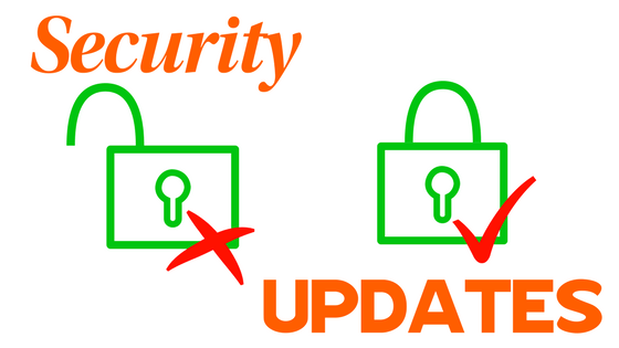 Security Updates for Website Updating blog
