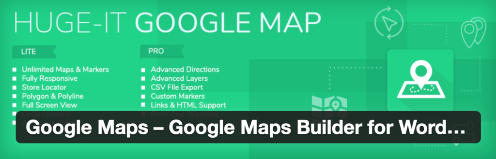 Huge IT Google Maps WordPress Plugins screenshot